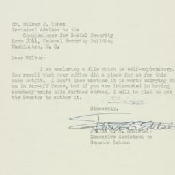 Letter : 1951 December 10