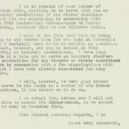 Letter : 1952 October 14