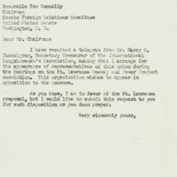 Letter : 1952 February 22