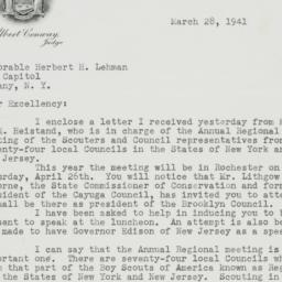 Letter : 1941 March 28
