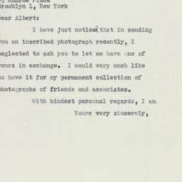 Letter : 1956 December 1