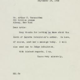 Letter : 1946 September 18