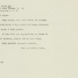 Letter : 1946 October 8