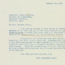 Letter : 1937 October 9