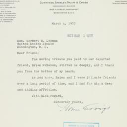 Letter : 1953 March 4