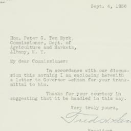 Letter : 1936 September 4