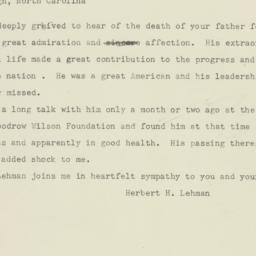 Telegram : 1946 January 16