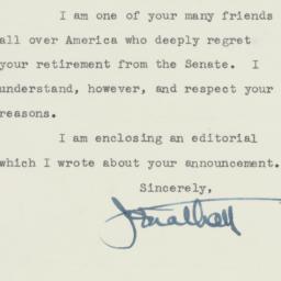 Letter : 1956 August 31