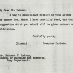 Letter : 1917 August 6