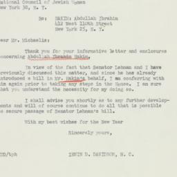Letter : 1955 December 30