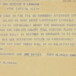 Telegram : 1942 September 20