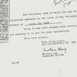 Letter : 1938 April 29