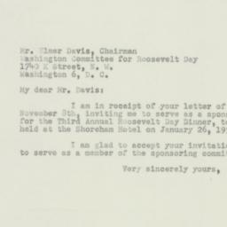 Letter : 1950 November 29