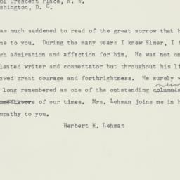 Telegram : 1958 May 19