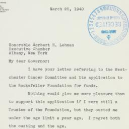 Letter : 1940 March 25