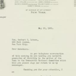 Letter : 1931 May 23