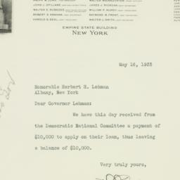Letter: 1933 May 16