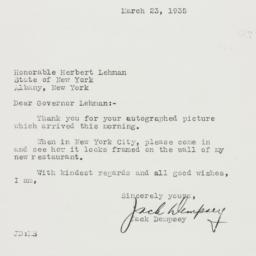 Letter : 1935 March 23