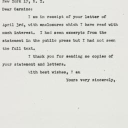 Letter : 1951 April 6