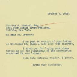Letter : 1935 October 4
