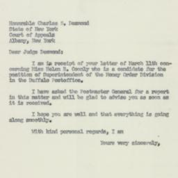 Letter: 1952 March 13