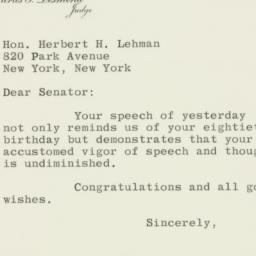 Letter : 1958 March 26