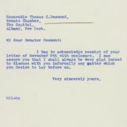 Letter : 1939 November 10