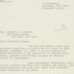 Letter: 1946 November 8