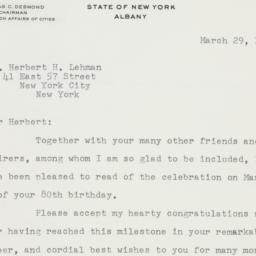 Letter : 1958 March 29