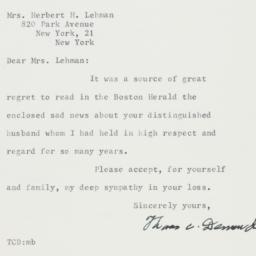 Letter: 1963 December 7