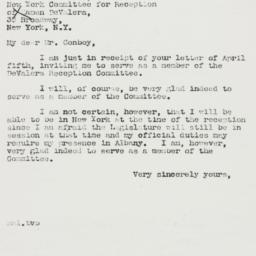 Letter : 1939 April 8