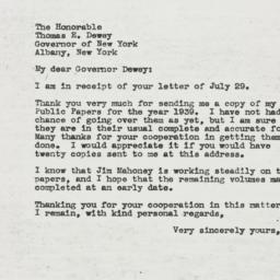 Letter : 1944 August 3