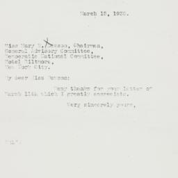 Letter : 1935 March 15
