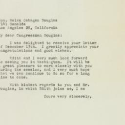 Letter : 1949 December 16