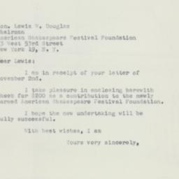 Letter : 1951 November 12