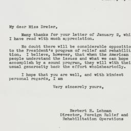 Letter : 1943 January 8