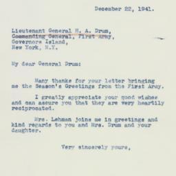 Letter : 1941 December 22