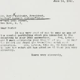 Letter : 1940 June 14