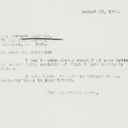 Letter : 1940 August 27