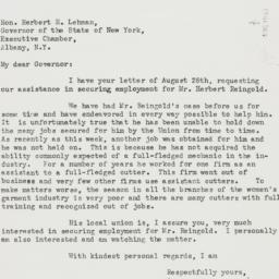 Letter : 1940 August 29