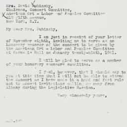 Letter : 1940 November 10