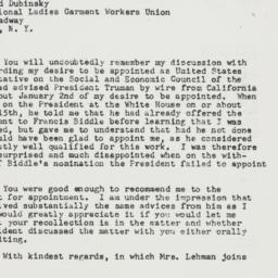 Letter : 1947 July 14