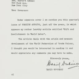 Letter : 1948 December 16