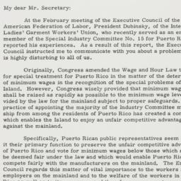 Letter : 1954 March 1