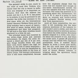 Clipping : 1958 March 12