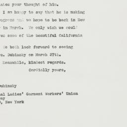 Letter : 1963 February 25