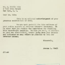 Letter : 1949 November 1
