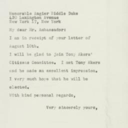 Letter : 1954 August 24