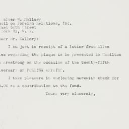 Letter : 1947 November 25