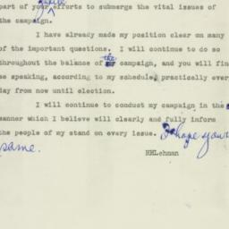 Telegram : 1949 October 16